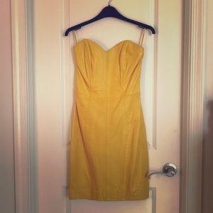 Dresses & Skirts - Waist hugging LEATHER vintage dress